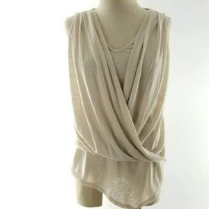 WHBM DRAPE KNIT TOP
